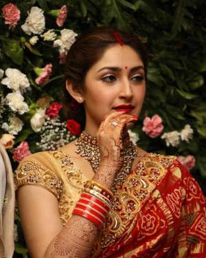 Sayyeshaa Saigal - Arya And Sayesha Saigal Wedding Reception Photos