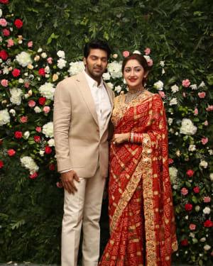 Arya And Sayesha Saigal Wedding Reception Photos | Picture 1635861