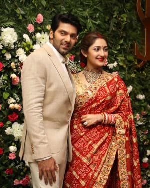 Arya And Sayesha Saigal Wedding Reception Photos | Picture 1635870