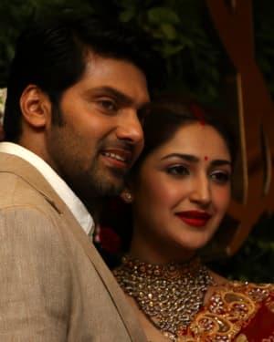 Arya And Sayesha Saigal Wedding Reception Photos | Picture 1635866