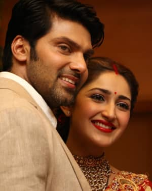 Arya And Sayesha Saigal Wedding Reception Photos