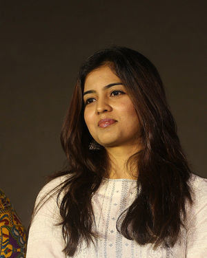 Amritha Aiyer - Whistle Movie Pre Release Event At Hyderabad Photos