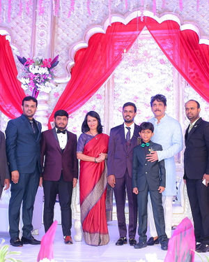 Celebs At Wedding Reception Of Syed Javed Ali And Sadiya Waheed Photos