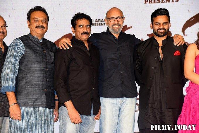 Prathi Roju Pandage Movie Pre Release Event Photos | Picture 1708163