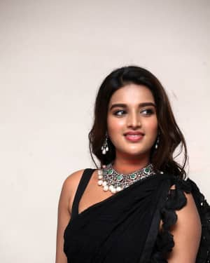 In Pics: Nidhhi Agerwal In Black Saree At Ismart Shankar Pre Release Event | Picture 1662760