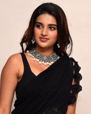 In Pics: Nidhhi Agerwal In Black Saree At Ismart Shankar Pre Release Event | Picture 1662741