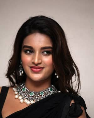 In Pics: Nidhhi Agerwal In Black Saree At Ismart Shankar Pre Release Event | Picture 1662756