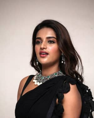 In Pics: Nidhhi Agerwal In Black Saree At Ismart Shankar Pre Release Event | Picture 1662753