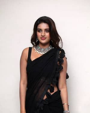 In Pics: Nidhhi Agerwal In Black Saree At Ismart Shankar Pre Release Event | Picture 1662749