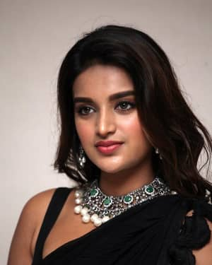 In Pics: Nidhhi Agerwal In Black Saree At Ismart Shankar Pre Release Event | Picture 1662755