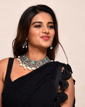 In Pics: Nidhhi Agerwal In Black Saree At Ismart Shankar Pre Release Event | Picture 1662742
