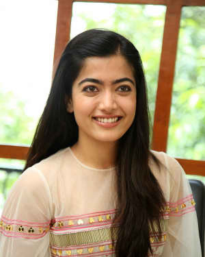 Rashmika Mandanna - Interview With Dear Comrade Movie Hero And Heroine Photos