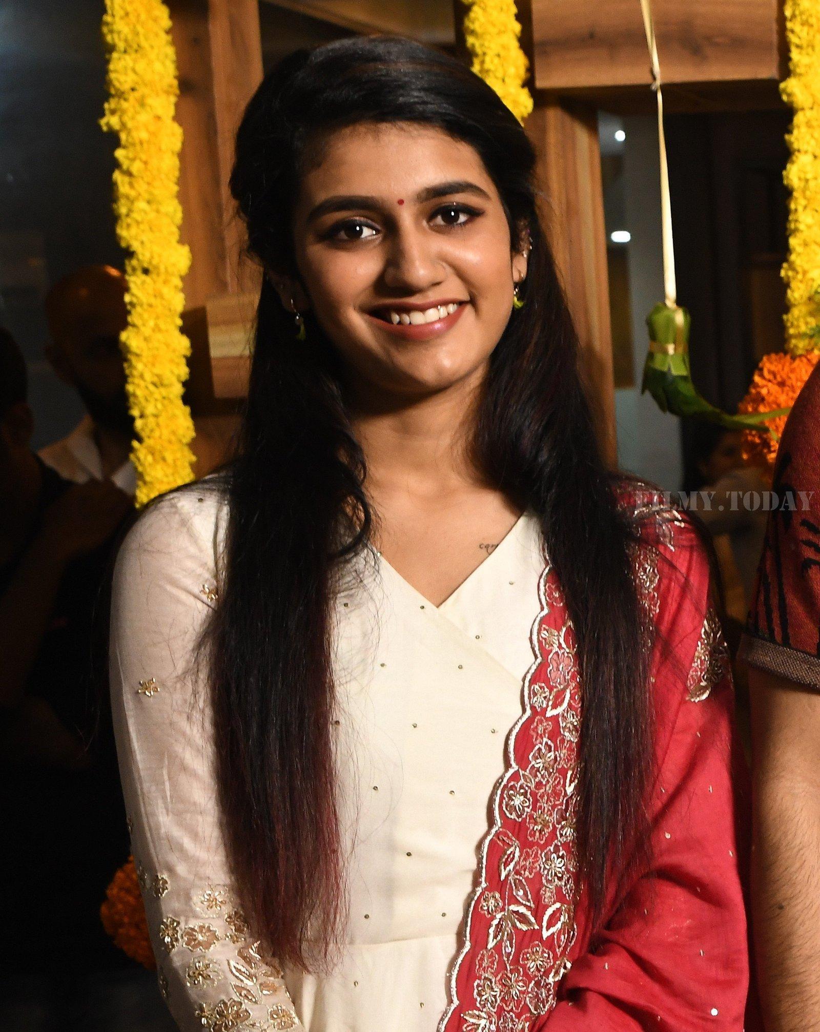 Priya Prakash Varrier - Nitin & Priya Prakash Varrier's New Movie Opening Photos | Picture 1656351
