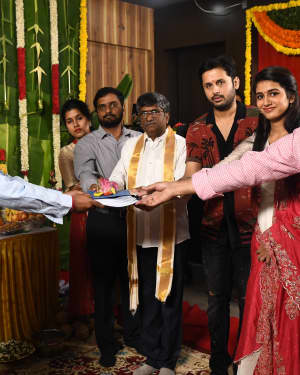 Nitin & Priya Prakash Varrier's New Movie Opening Photos