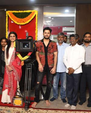 Nitin & Priya Prakash Varrier's New Movie Opening Photos | Picture 1656349