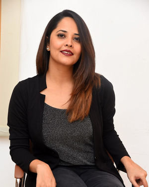 Anasuya Bharadwaj - Meeku Mathrame Chepta Movie Team Interview Photos