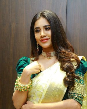 Nabha Natesh At Sri Kanchi Alankar Silks Grand Launch Photos