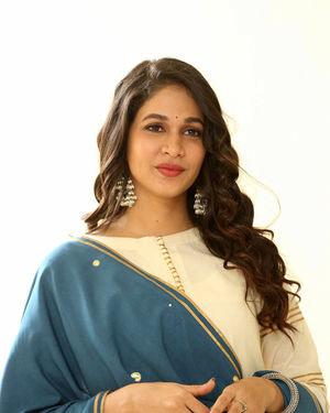 Lavanya Tripathi At Arjun Suravaram Movie Interview Photos