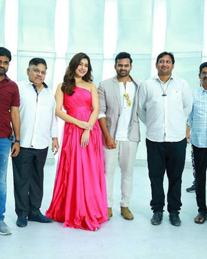 Prathi Roju Pandage Movie Song Shoot Coverage And Press Meet Photos