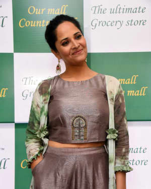 Anasuya At The Launch Of Country Mall Retail Store Photos