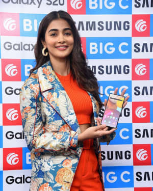 Pooja Hegde At The Launch Of Samsung Galaxy S20 At Big C | Picture 1725301