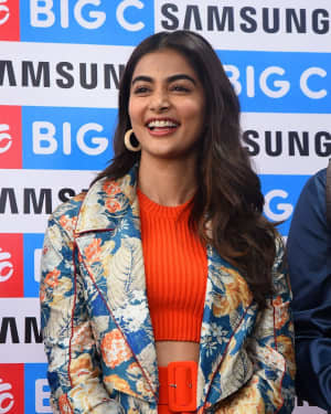 Pooja Hegde At The Launch Of Samsung Galaxy S20 At Big C   Picture 1725293