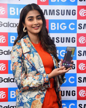 Pooja Hegde At The Launch Of Samsung Galaxy S20 At Big C | Picture 1725302