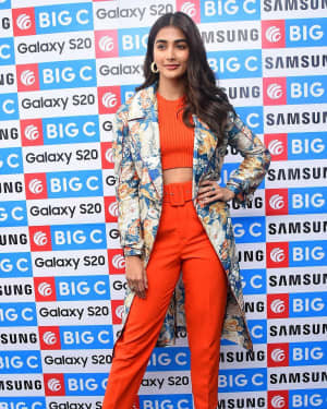 Pooja Hegde At The Launch Of Samsung Galaxy S20 At Big C | Picture 1725307
