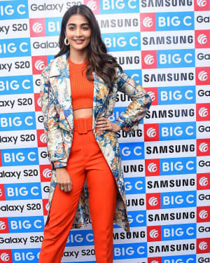 Pooja Hegde At The Launch Of Samsung Galaxy S20 At Big C | Picture 1725305
